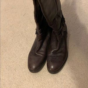 Via Spiga Leather Riding boots